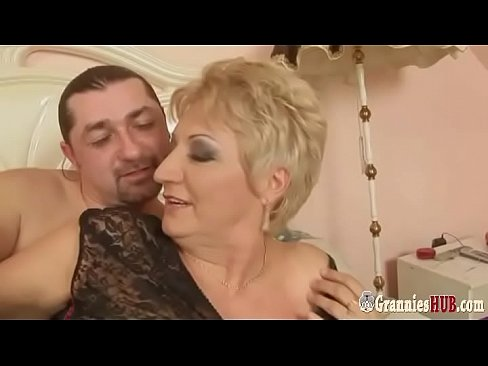 Young Italian Stud Banging Hot BBW Granny Blonde