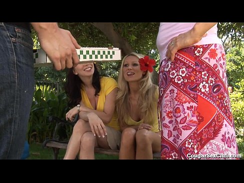 Horny Housewives GangBang The Pizza Guy