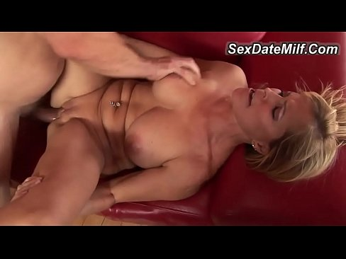 Blonde Cougar Knows How To Please A Younger Man