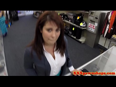 Busty Pawnshop Milf Dicksucking For Cash POV
