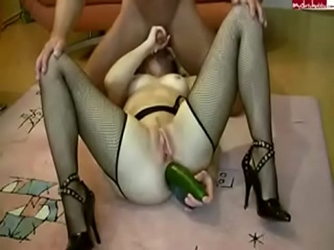 EXTREME ! Fisting Ass Of My Wife With Two Big Cucumbers